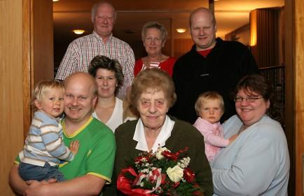 Irene Klein und Familie Lang